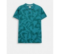 Polera Polo con Estampado Tropical Verde Esprit