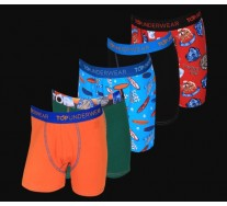 Pack 5 Boxers Estampados Niño Top