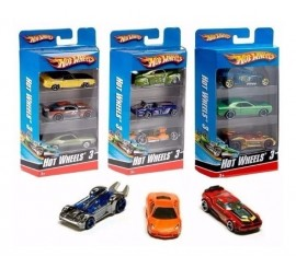 Pack 3 Autos Hot Wheels