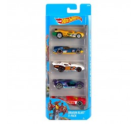 Pack 5 Autos Hot Wheels